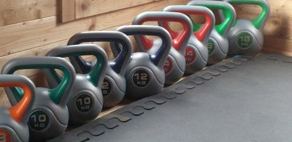 Kettlebells in studio